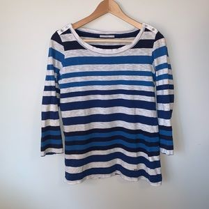 💐3/$50 Mixed Blue Stripe Cotton T-shirt
